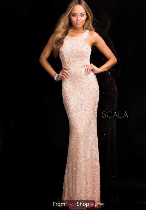 Long Beaded Dress By Scala 48703