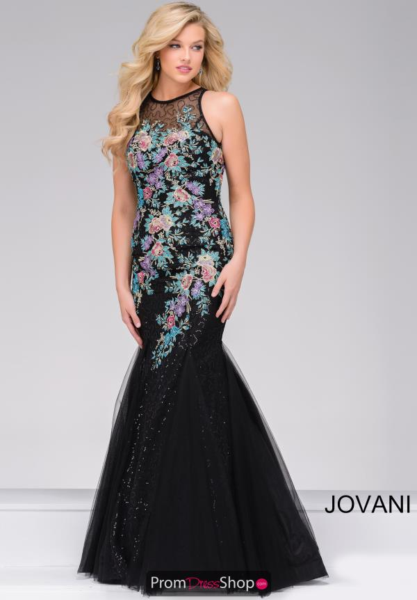 Jovani Long Beaded Dress 41661