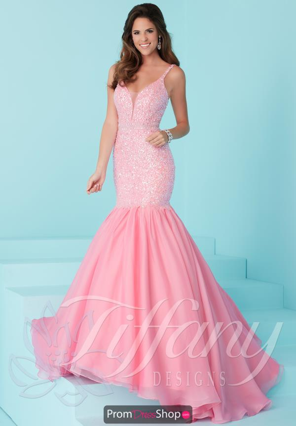 Tiffany Long Fitted Dress 16227