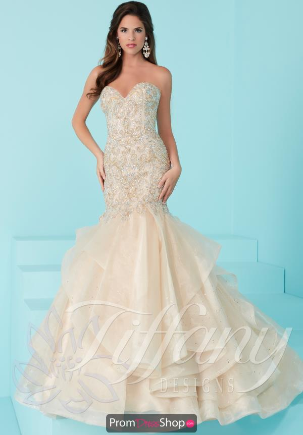 Strapless Fitted Tiffany Dress 16235