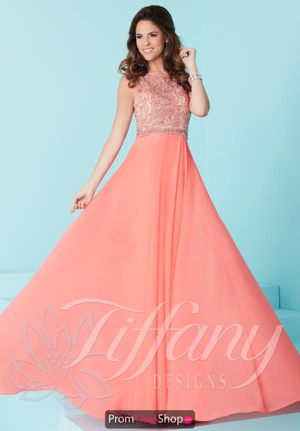 Tiffany Long A Line Dress 16244