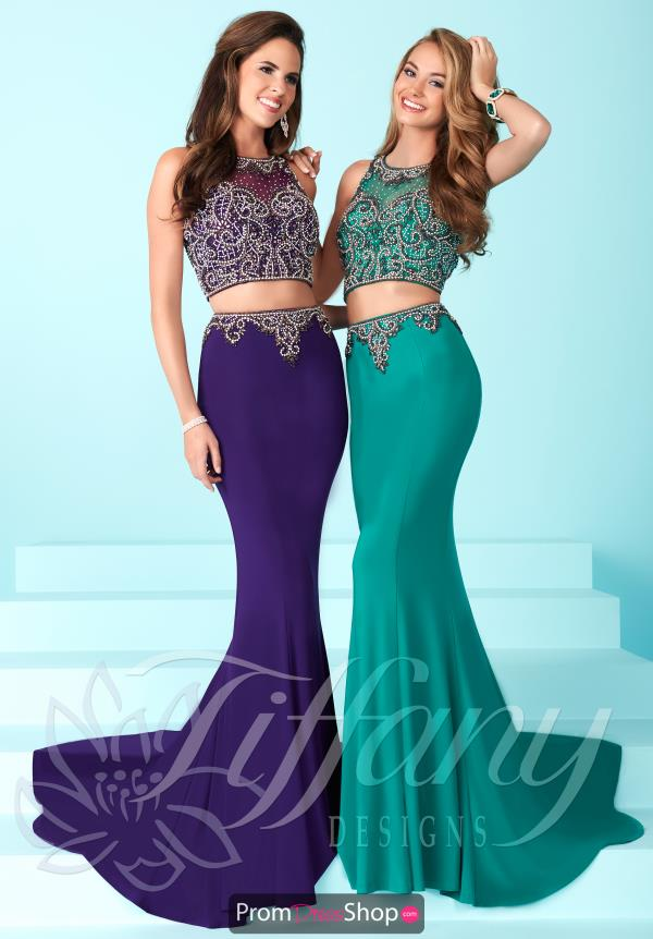 Long Fitted Tiffany Dress 16251