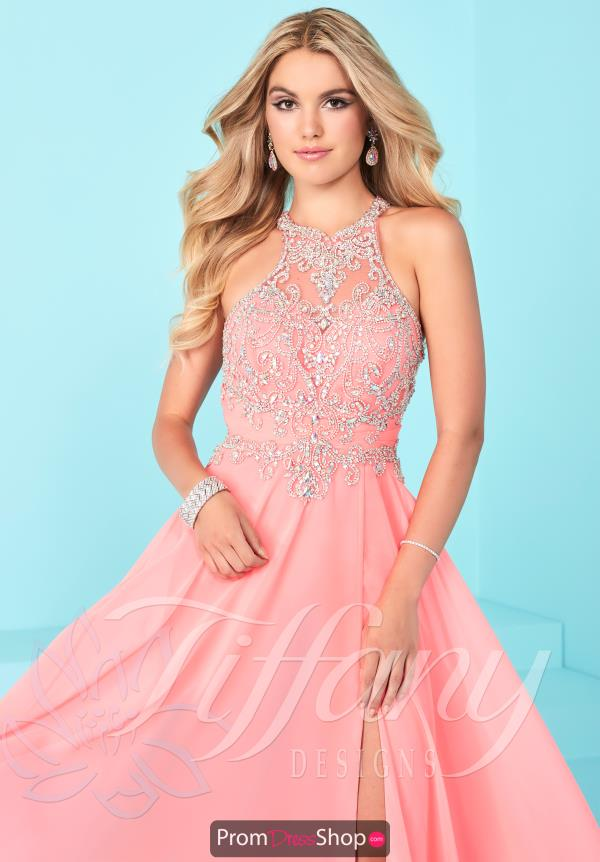 Tiffany Beaded High Neckline Dress 16255
