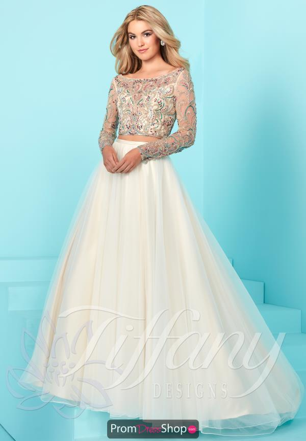 A Line Beaded Tiffany Dress 16256