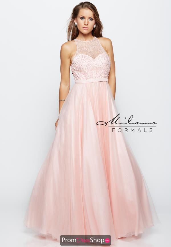Milano Formals Beaded A Line Dress E2057
