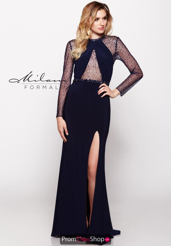 Milano Formals Jesey Fitted Dress E2100