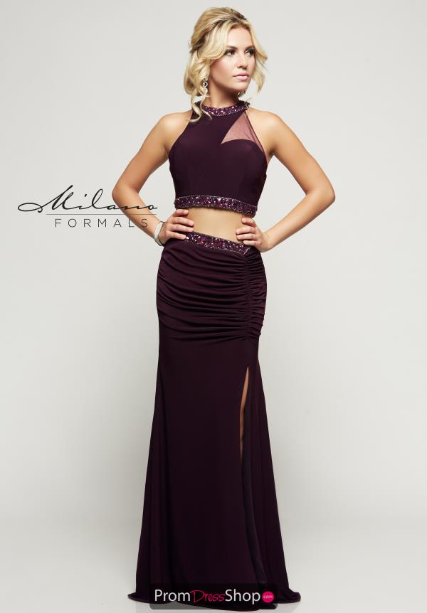 Milano Formals Long Purple Dress E2148