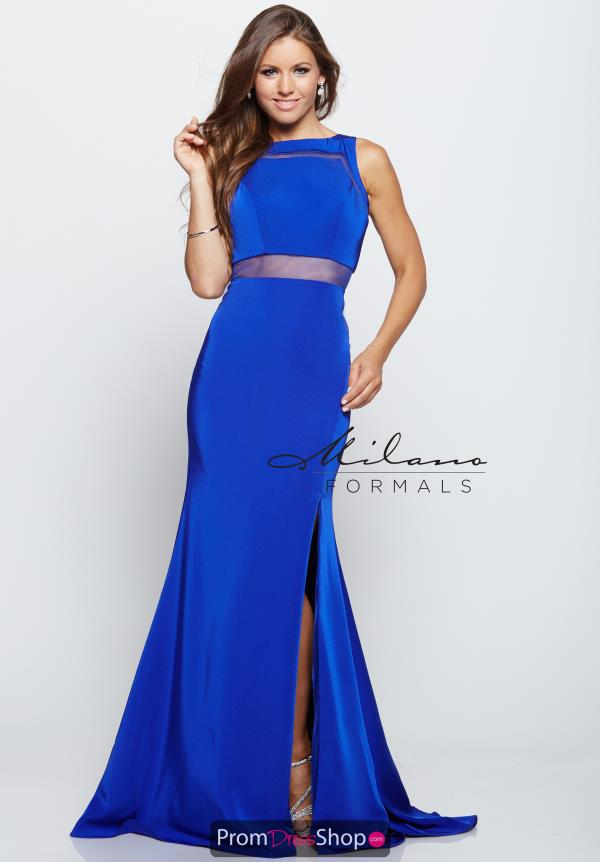 High Neckline Fitted Milano Formals Dress E2151