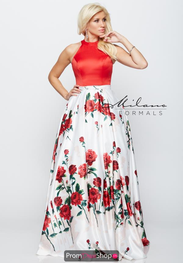 Milano Formals Red Long Dress E2161