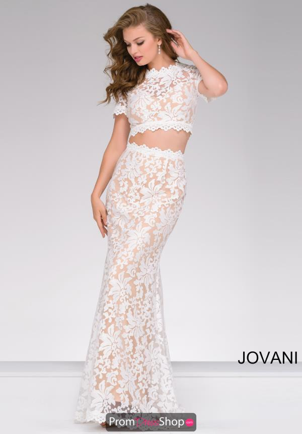 Jovani Sleeved Lace Dress 50880