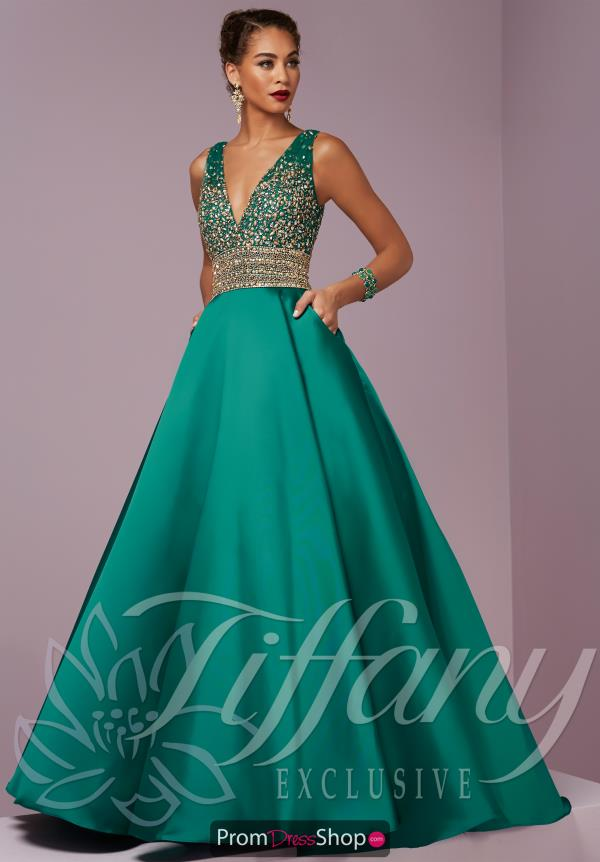 Tiffany Long A Line Dress 46076