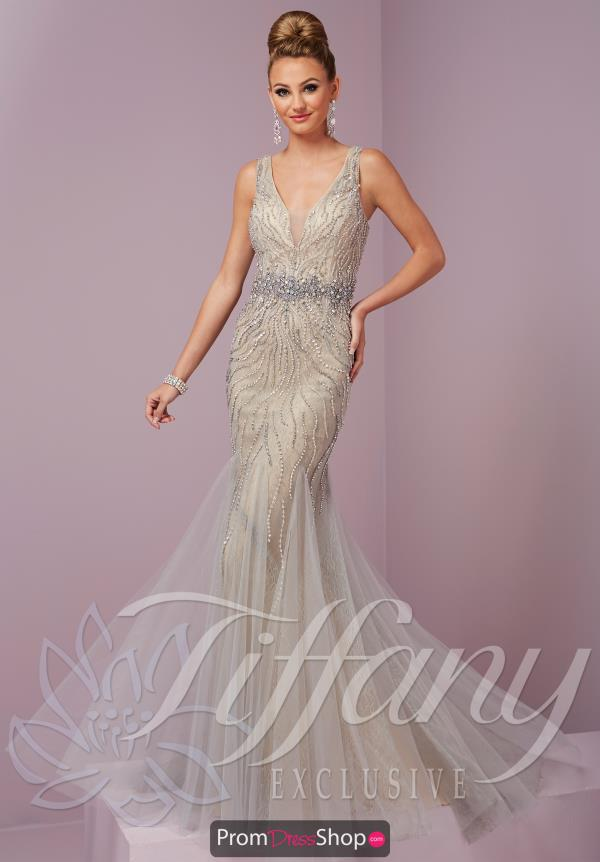 Tiffany Long Fitted Dress 46087