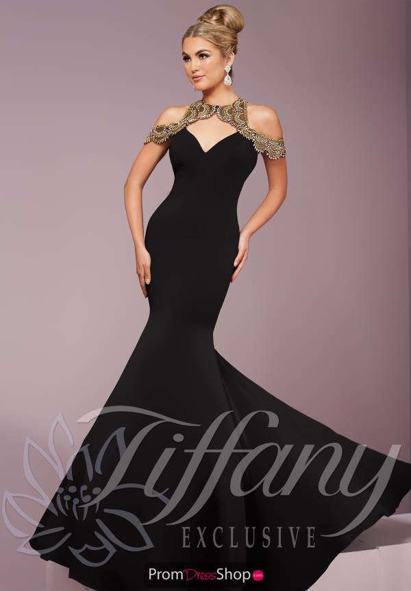 Tiffany Long Satin Dress 46106