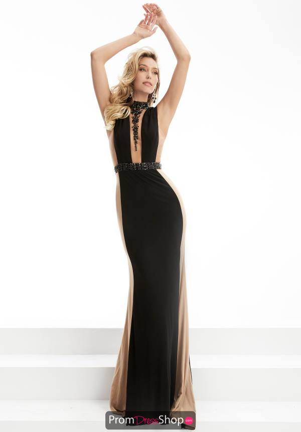 Jasz Couture Black Long Dress 5905