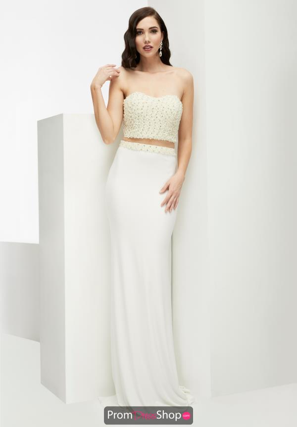Jasz Couture Fitted Jersey Dress 5910