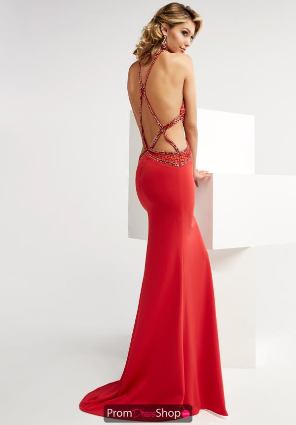 Jasz Couture Fitted Halter Top Dress 5913