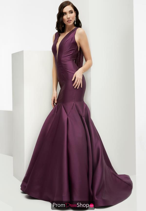 V-Neckline Fitted Jasz Couture Dress 5914