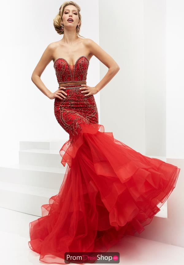 Red Couture Cocktail Dress