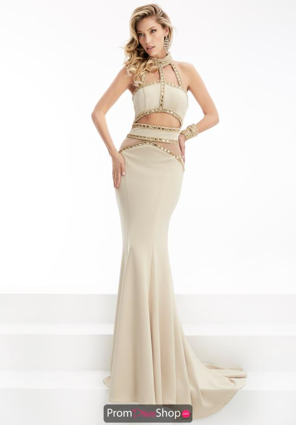 Halter Neckline Long Jasz Couture Dress 5923