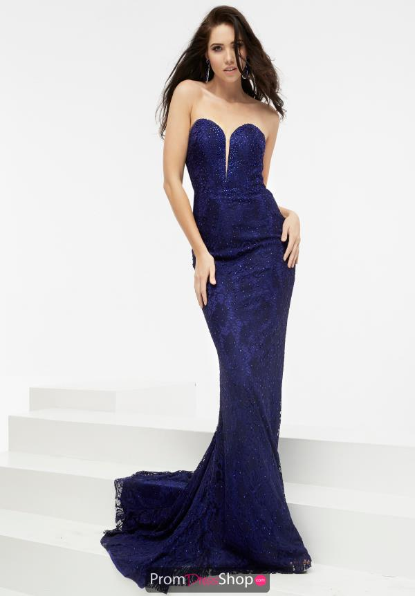 Open Back Long Jasz Couture Dress 5940