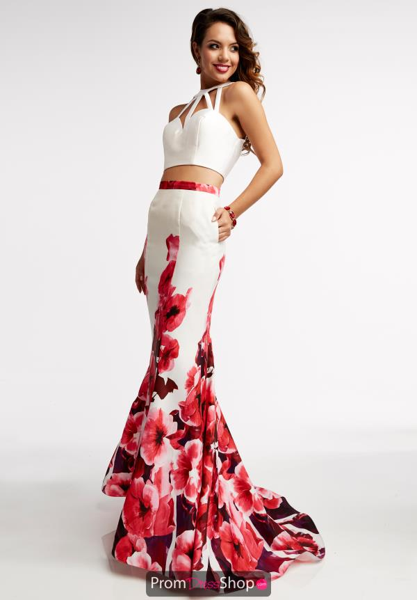 Two Piece Print Jasz Couture Dress 5949