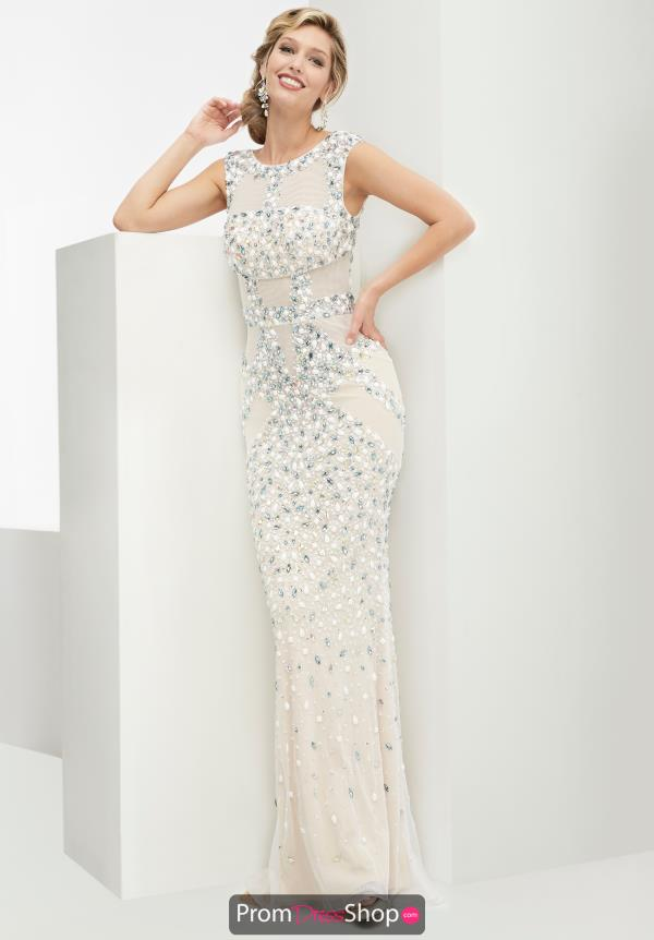 High Neckline Fitted Jasz Couture Dress 5950