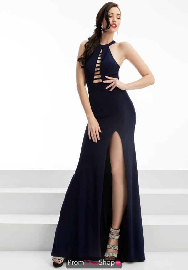 Halter Top Fitted Jasz Couture Dress 5952