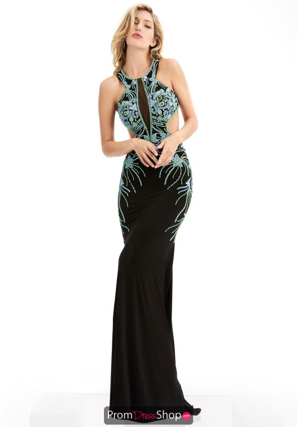 Fitted Black Jasz Couture Dress 5953