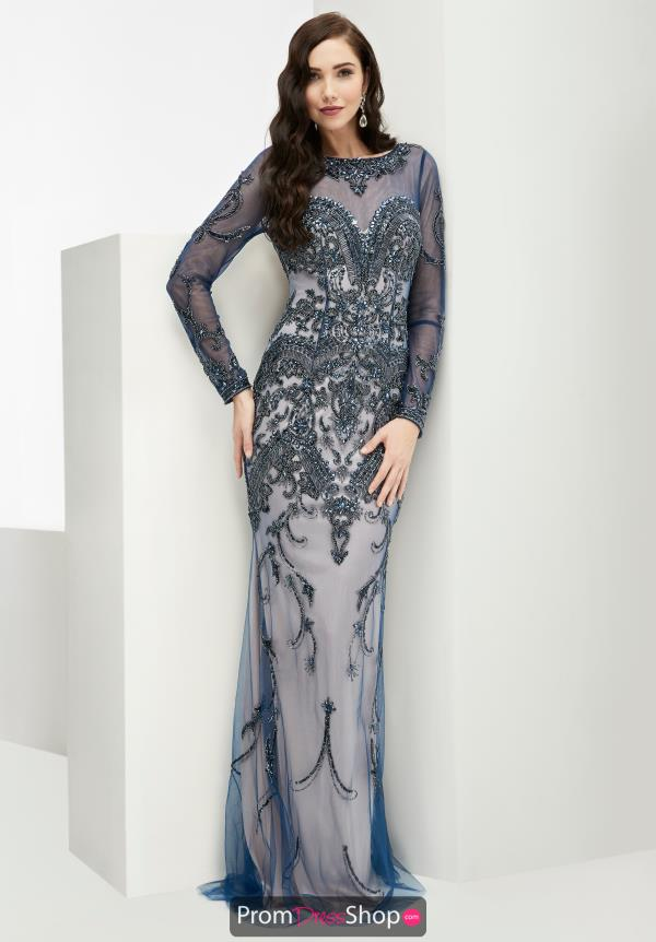 Jasz Couture Beaded Blue Dress 5970