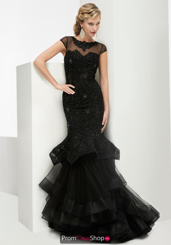 Cap Sleeved Fitted Jasz Couture Dress 5971