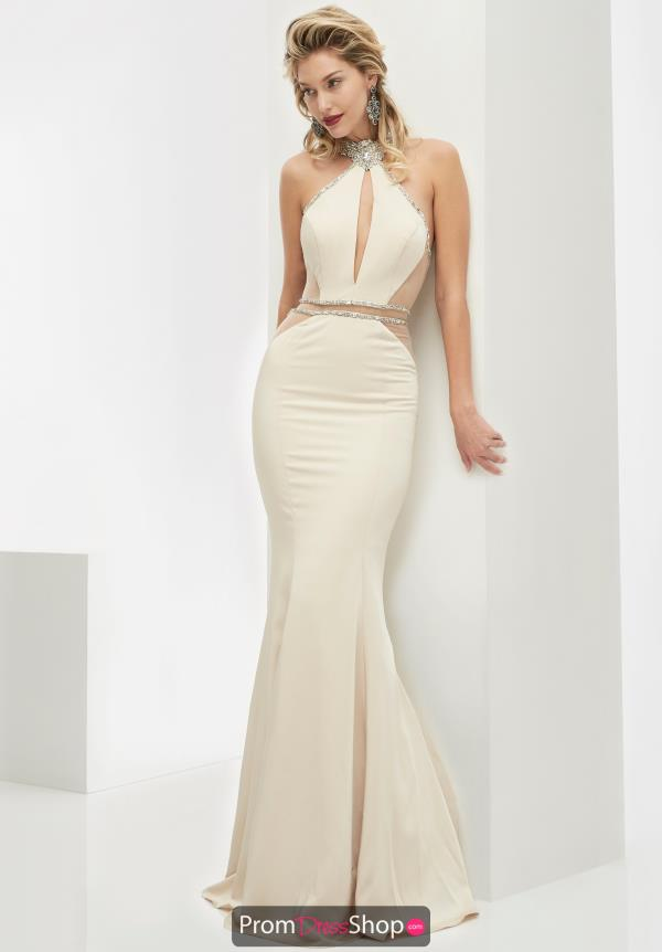 High Neckline Long Jasz Couture Dress 5986
