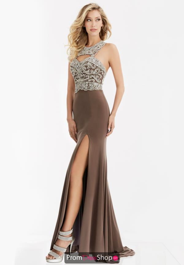 Beaded High Neckline Jasz Couture Dress 5994