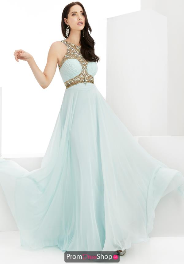 Jasz Couture A Line Chiffon Dress 6004