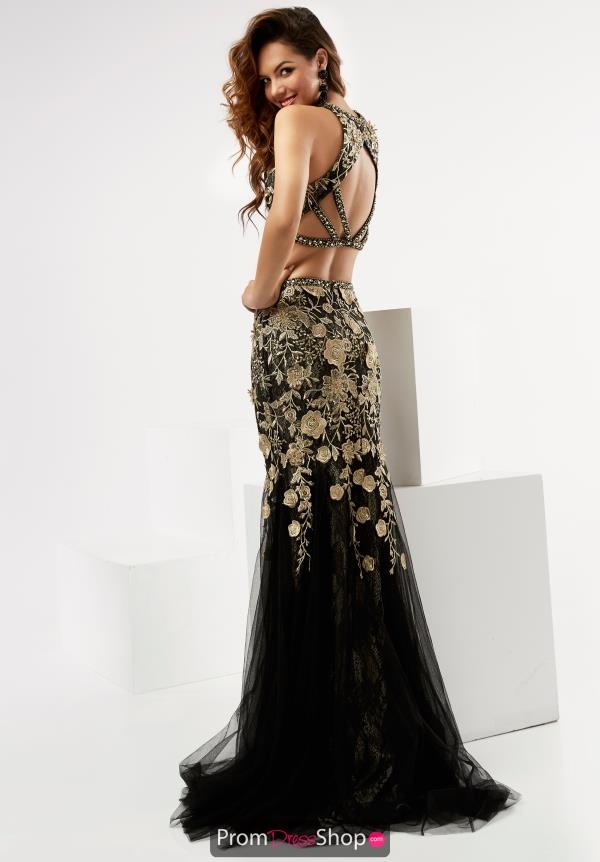 Long Beaded Jasz Couture Dress 6009