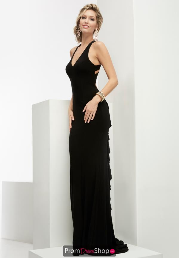 V- Neckline Jersey Jasz Couture Dress 6036
