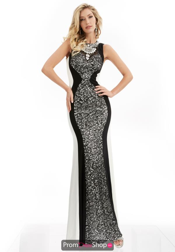 Jasz Couture Long Fitted Dress 6039