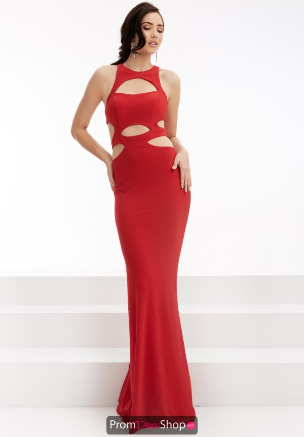 High Neckline Fitted Jasz Couture Dress 6047