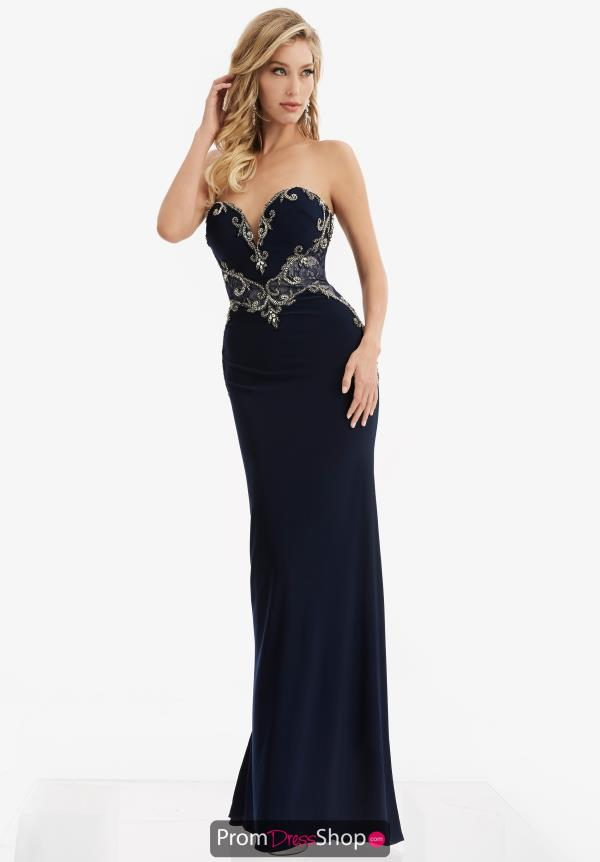 Strapless Fitted Jasz Couture Dress 6051