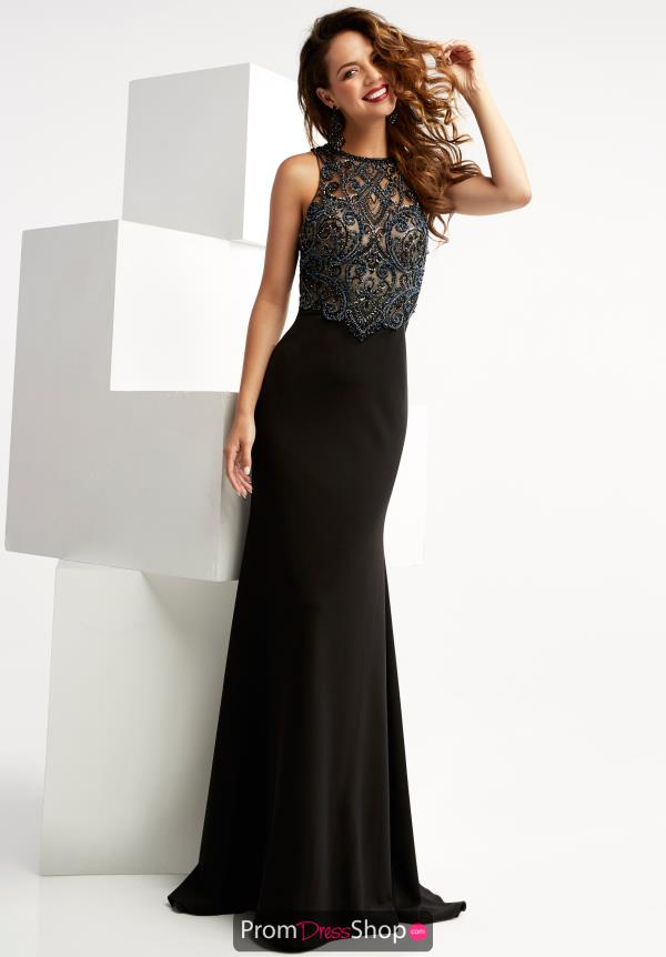Jasz Couture Fitted Jersey Dress 6056
