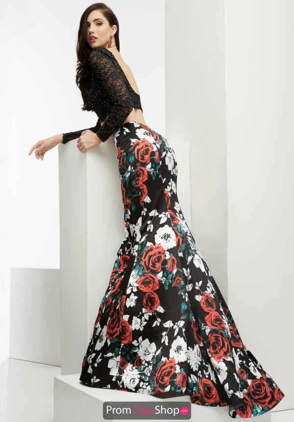 Jasz Couture Floral Long Dress 6060