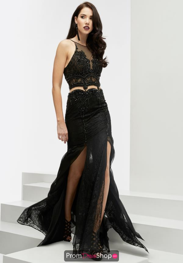 High Neckline Beaded Jasz Couture Dress 6067