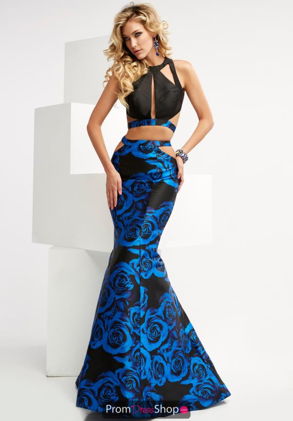 Jasz Couture Long Print Dress 6068