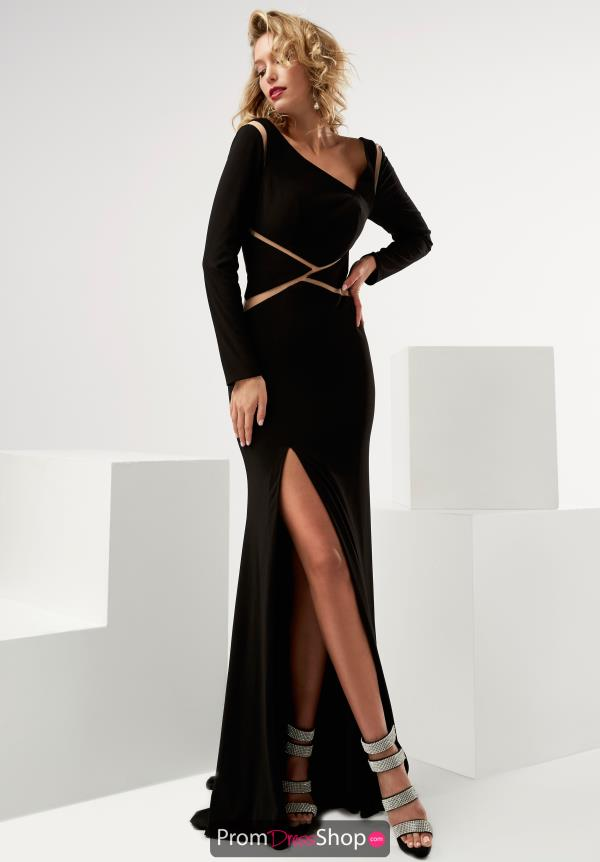 Jasz Couture Fitted Jersey Dress 6091