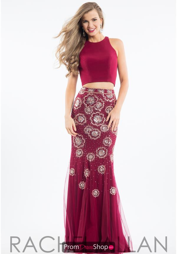 Rachel Allan Two Piece Beaded Dress 7503