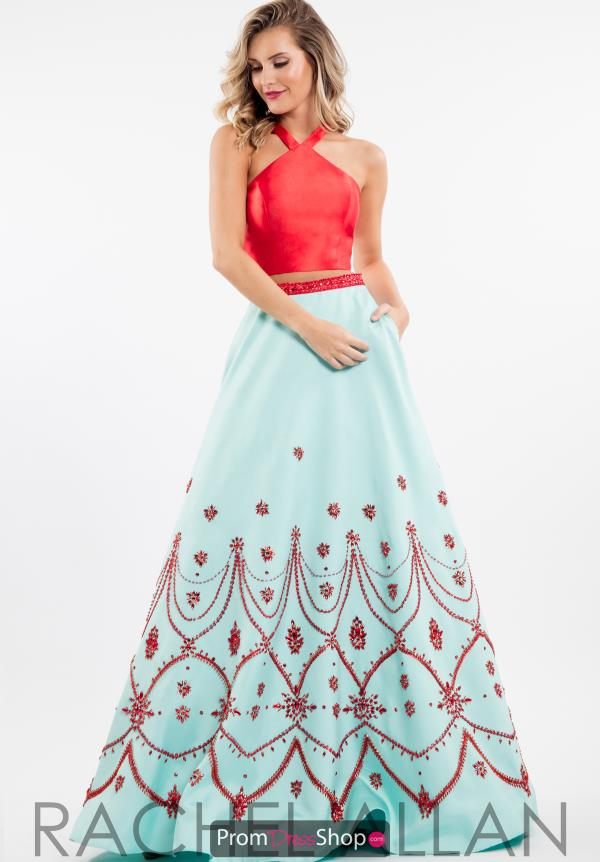 Rachel Allan Two Piece Beaded Dress 7533