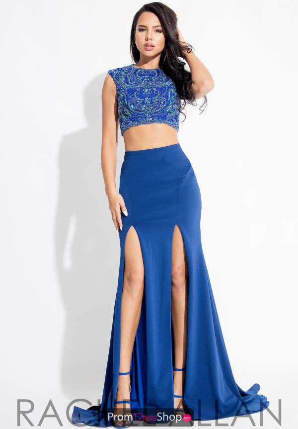 Rachel Allan Two Piece Beaded Dress 7573