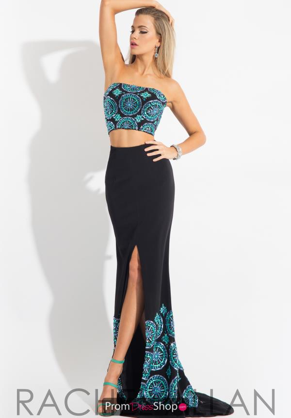 Rachel Allan Fitted Beaded Dress 7585