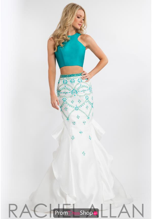 Rachel Allan Two Piece Beaded Dress 7633