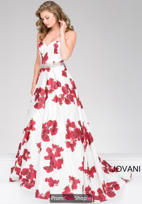 Strapless White Jovani Dress 37940