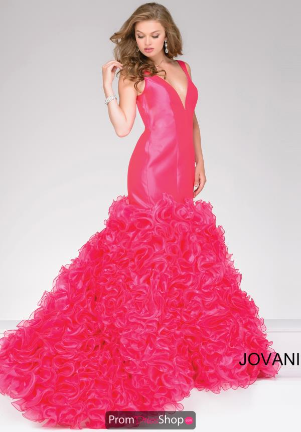 V- Neckline Fitted Jovani Dress 41639